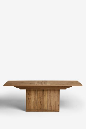Bronx Storage Pedestal 6 to 8 Extending Dining Table