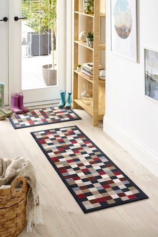 My Mat Small Check Washable Runner