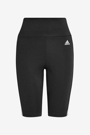 adidas 3 Stripe D2M High Waisted Bike Shorts