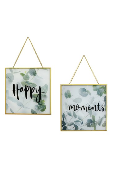 Happy Moments Glass Framed Print by Arthouse