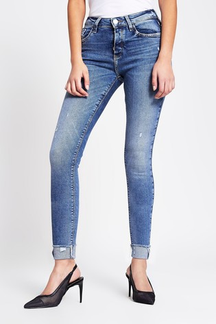 River Island Denim Medium Amelie Ripped Mars Jeans