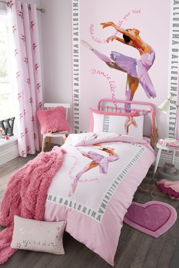 Ballerina Easy Care Duvet Cover and Pillowcase Set by Catherine Lansfield