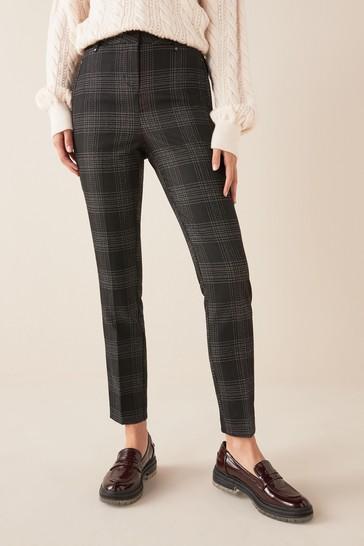 Monochrome Check Skinny Trousers