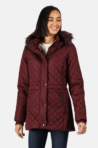 Regatta Purple Zella Quilted Insulated Jacket