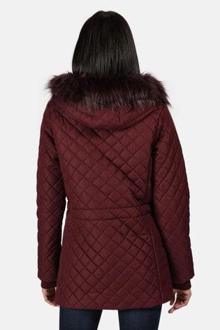 Regatta Purple Zella Quilted Insulated Jacket