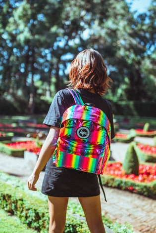 Hype. Rainbow Holographic Backpack