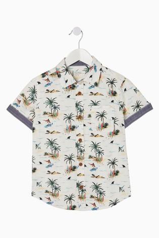 FatFace Natural Resort Print Shirt