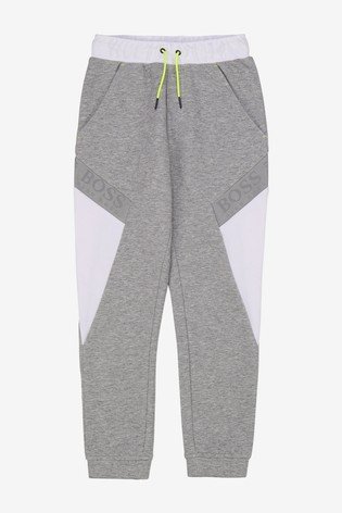 BOSS Grey Logo Tracksuit Bottoms