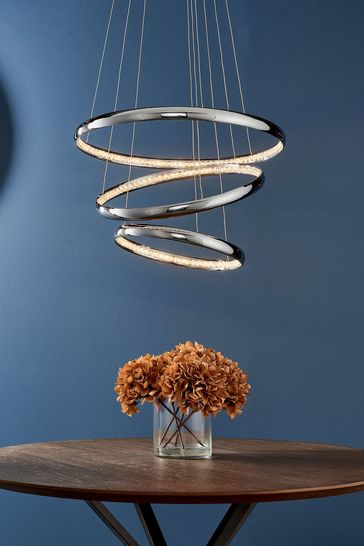 Gallery Direct Silver Ozak LED Pendant Light