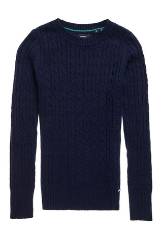 Superdry Navy Croyde Knit Jumper
