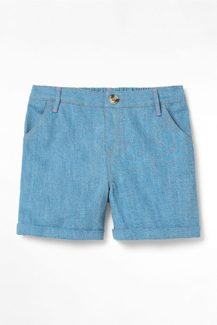 White Stuff Blue Denim Shorts