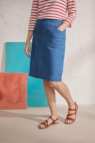 Seasalt Cornwall Blue Pitching Skirt