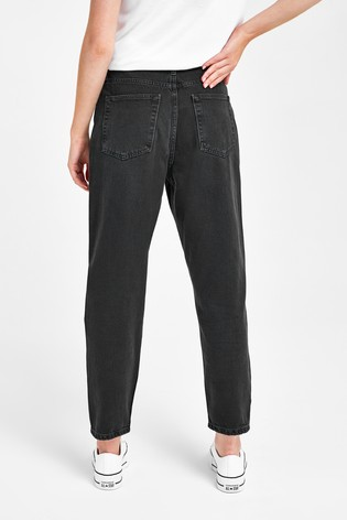 Gap Black Cropped Mom Jeans