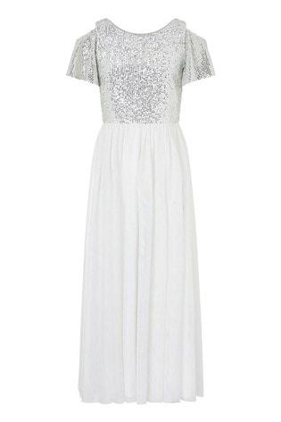 Monsoon Ivory Jacinta Cold Shoulder Prom Dress