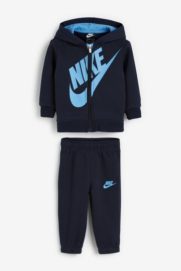 Nike Infant Navy/Blue Overhead Hoodie And Joggers Set
