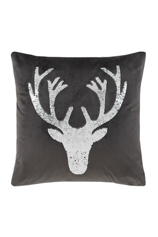 Sequin Stag Cushion by Catherine Lansfield