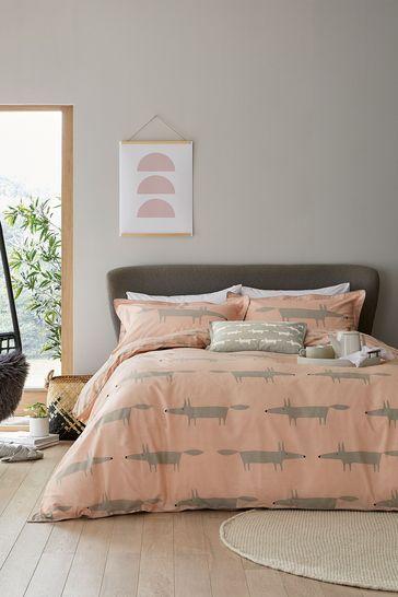 Scion Pink Mr Fox Duvet Cover and Pillowcase Set