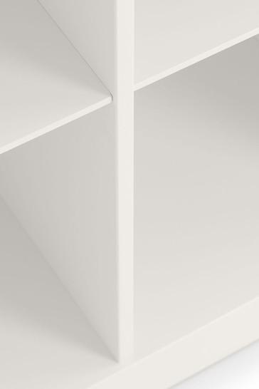 Pluto White Bookcase by Julian Bowen