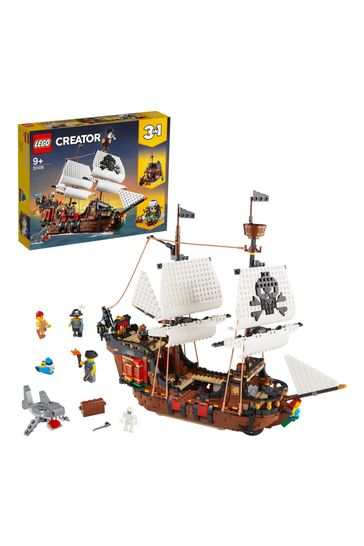 LEGO 31109 Creator 3-In-1 Pirate Ship Toy Set