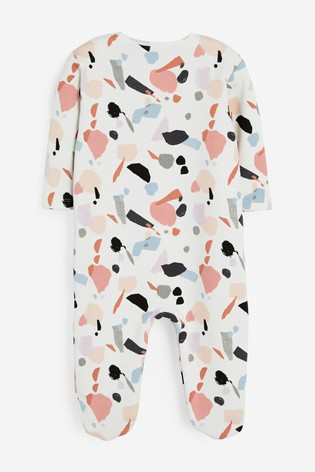 Monochrome Abstract Fleece Lined Sleepsuit (0mths-2yrs)