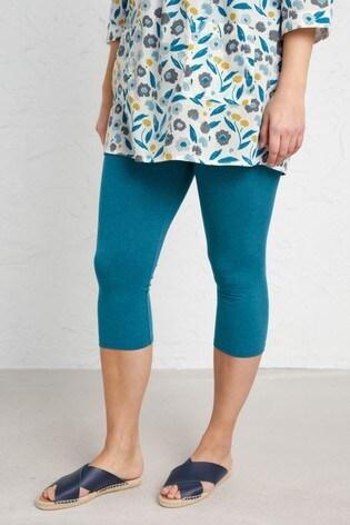 Seasalt Petite Blue Charming Cropped Leggings