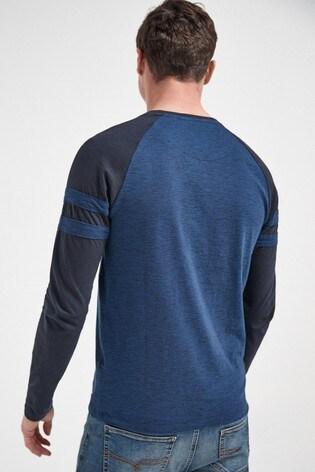 Navy Long Sleeve Raglan Top