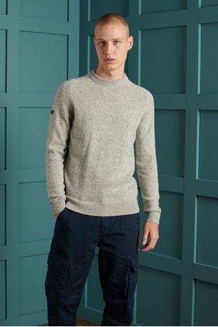 Superdry Grey Crew Knit Jumper