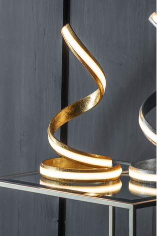 Saunsby Gold Leaf LED Table Lamp by Gallery Direct
