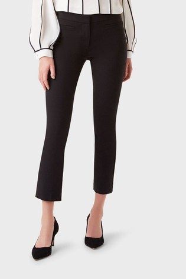 Hobbs Black Petite Annie Slim Trousers