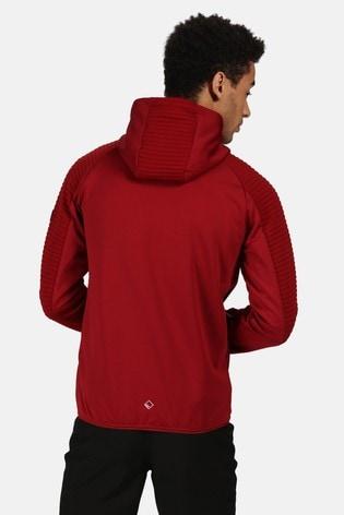 Regatta Red Woodford Full Zip Hooded Fleece Jacket