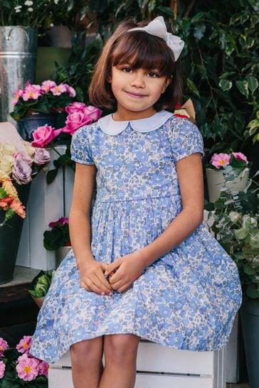 Trotters London Blue Betsy Liberty Print Dress