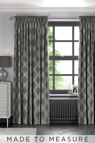 Manhattan Geo Grey Made to Measure Curtains