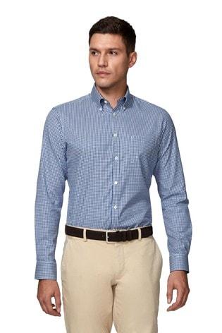 T.M. Lewin Royal Oxford Navy Gingham Slim Fit Shirt