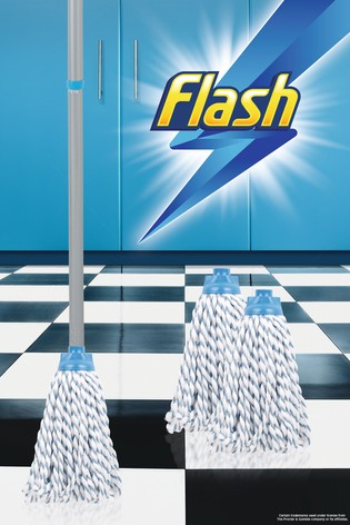 Flash Duo Mop With 2 Mop Head Refills by Wham