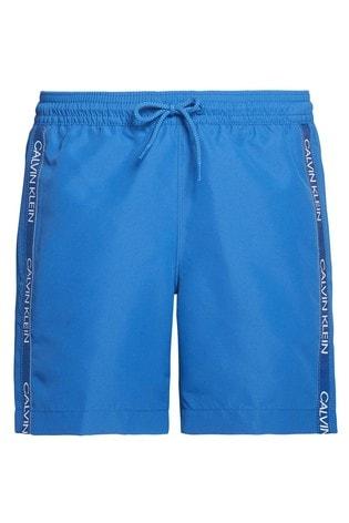 Calvin Klein Blue CK Logo Tape Medium Drawstring Trunks