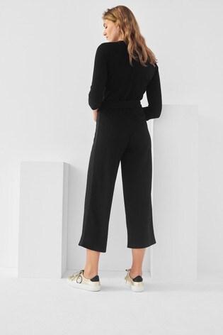 Next/Mix Zip Front Jersey Jumpsuit