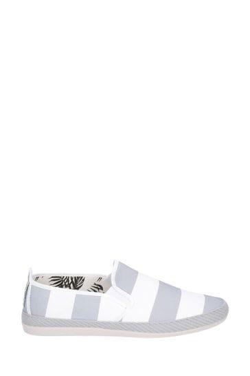 Flossy Grey Ninfa Slip-On Shoes