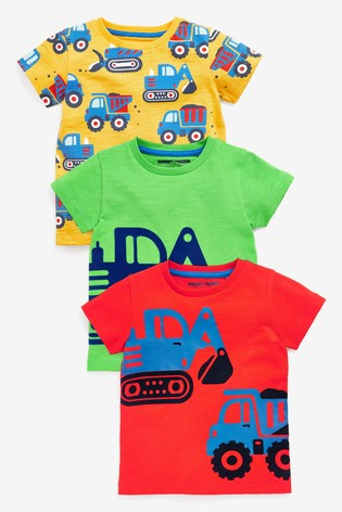 Bright Digger 3 Pack T-Shirts (3mths-7yrs)