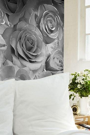Muriva Madison Glitter Floral Wallpaper