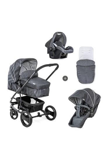 Hauck Pacific 4 Shop N Drive Travel System Melange Charcoal