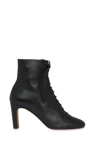 Whistles Black Dahlia Lace-Up Boots