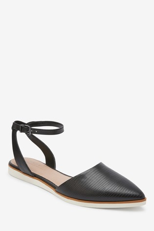 Black EVA Two Part Pointed Shoes