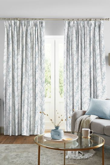 Laura Ashley Pussy Willow Off White Seaspray Made to Measure Curtains
