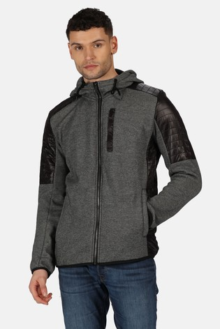 Regatta Black Wilkin Full Zip Hooded Fleece Jacket