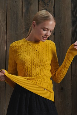 Superdry Yellow Croyde Knit Jumper