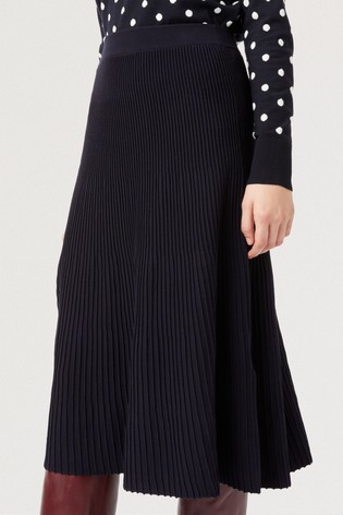 Hobbs Blue Ana Knitted Skirt
