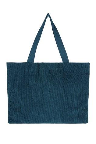 Accessorize Teal Cord Shopper Bag