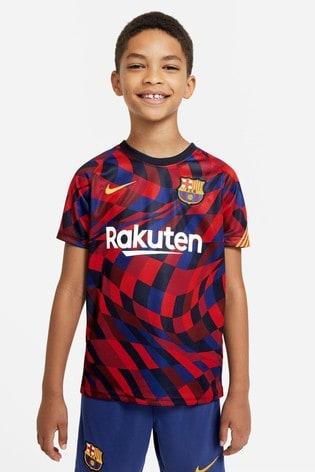 Nike Red FC Barcelona Pre Match T-Shirt