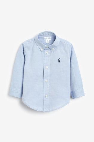 Ralph Lauren Blue Logo Oxford Shirt
