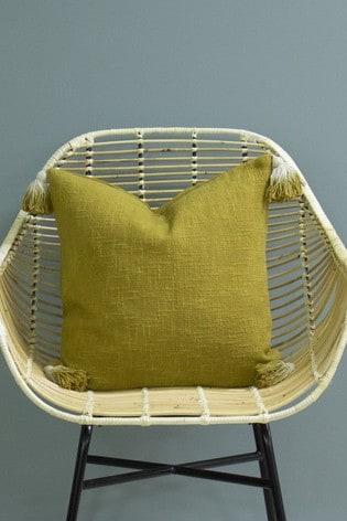 Furn Green Eden Ombre Tassel Cushion